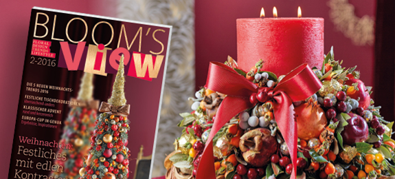 Bloom 39 s bloom 39 s view 2 16 floral design trends for Weihnachtstrends 2016 floristik